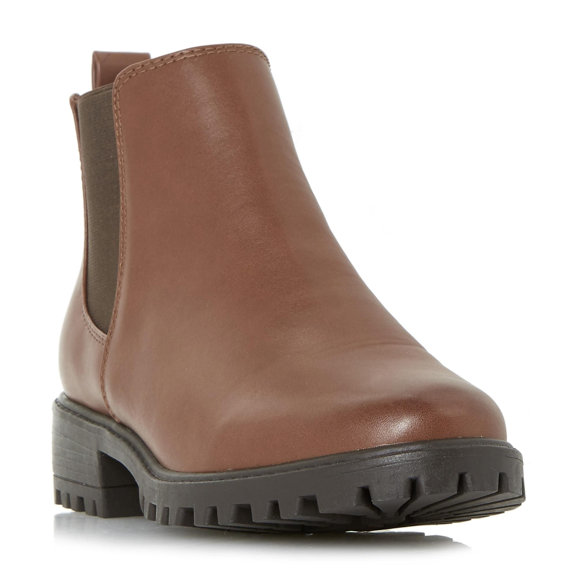 PORTIAA - Cleated Sole Chelsea Ankle Boot