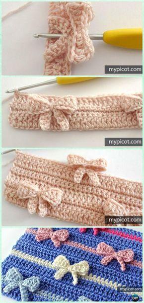 In-Between Crochet Bow Stitch Free Pattern - Crochet Bow Free ...