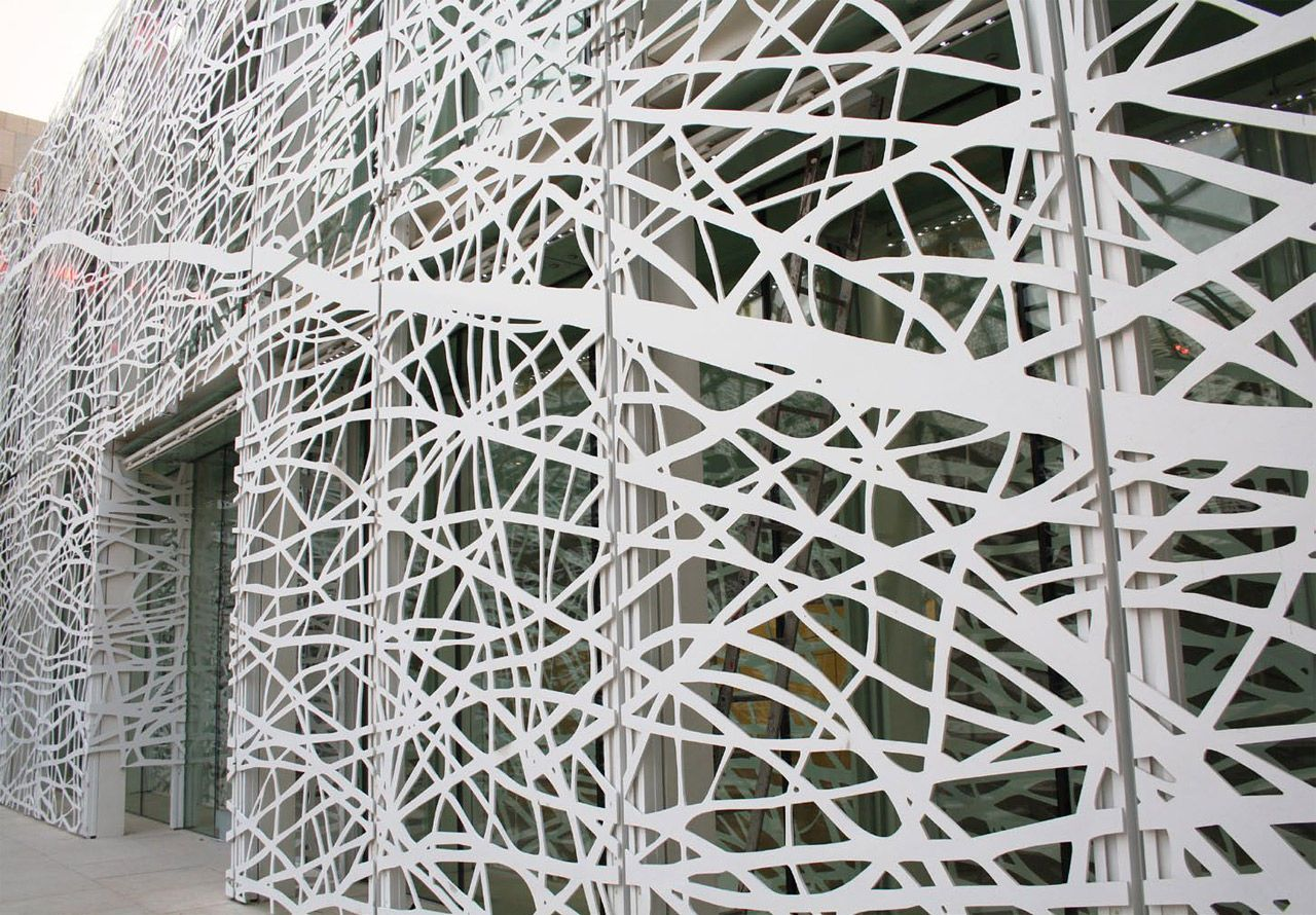 Metal Facades On Pinterest Facades Bronze And Perforated Metal
