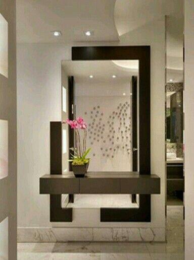 Decoracao logo na entrada da sala design pinterest - Espejos para hall de entrada ...