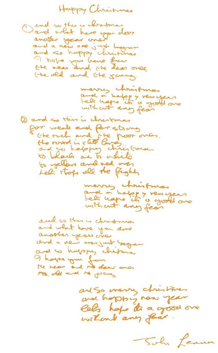 Happy Xmas War Is Over Lyrics John Lennon Happy Xmas Happy War