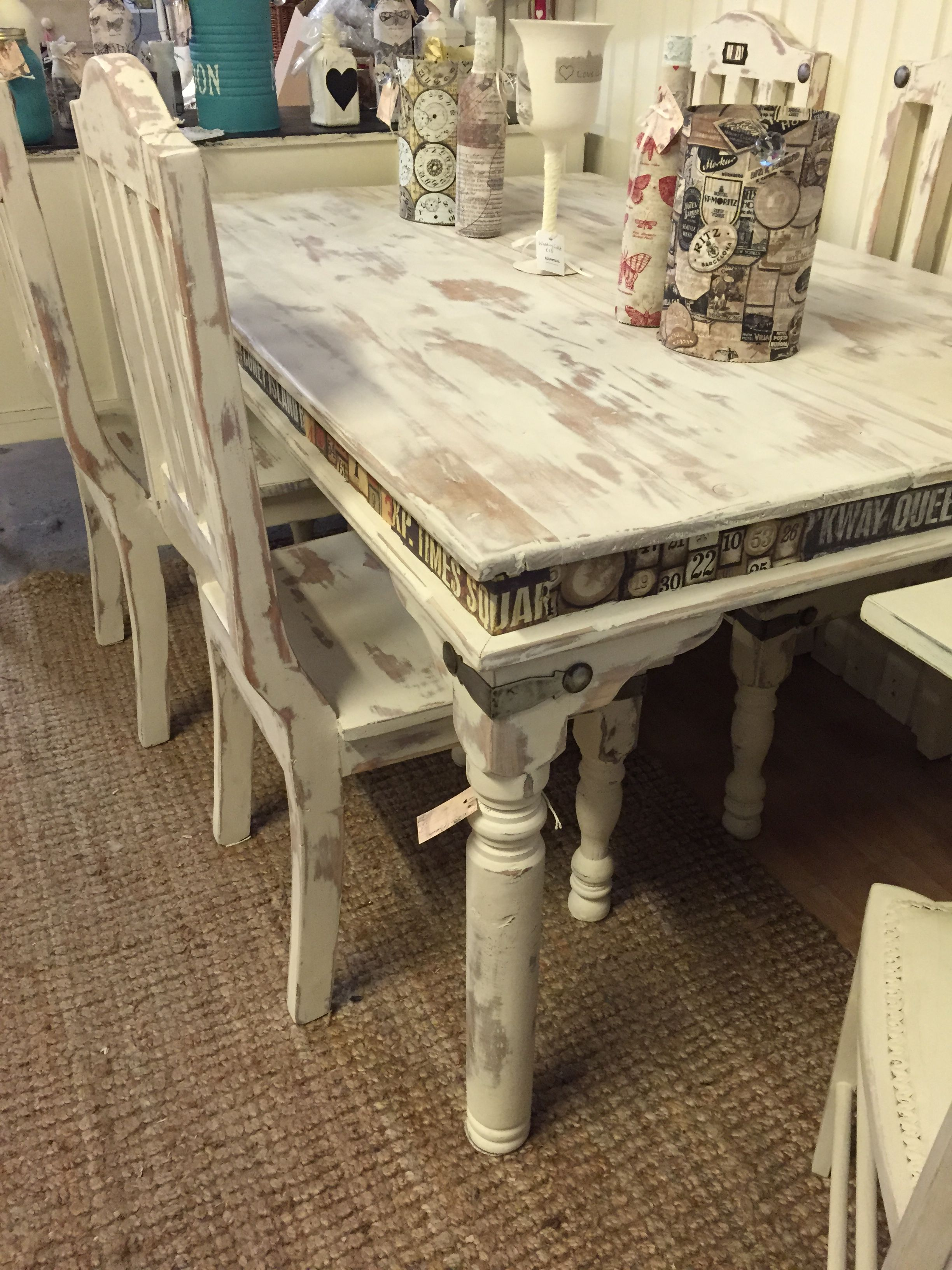 Shabby Chic Table And Chairs Fabric Decoupage Shabby Chic Dining Room Shabby Chic Kitchen Accessories Shabby Chic Dining