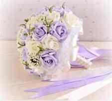 "Hot Pearls Flowers Rose Lace Bridal Posy Brooch Wedding Bouquet ""HANDMADE"""
