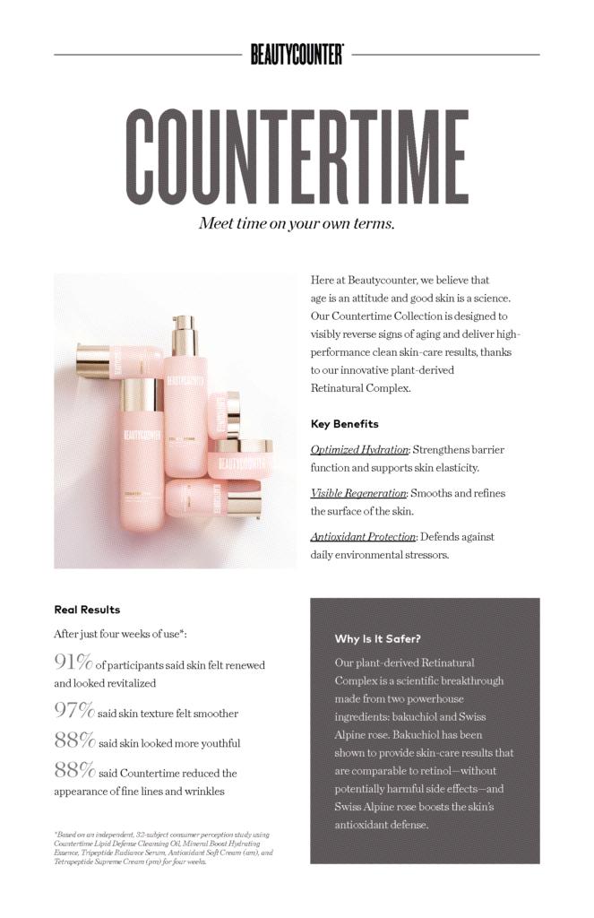 Beautycounter S Plant Based Retinol Line Called Countertime Plant Based Retinol Has Hit The Market And The Result Are Countertime Beautycounter Dry Skin Care