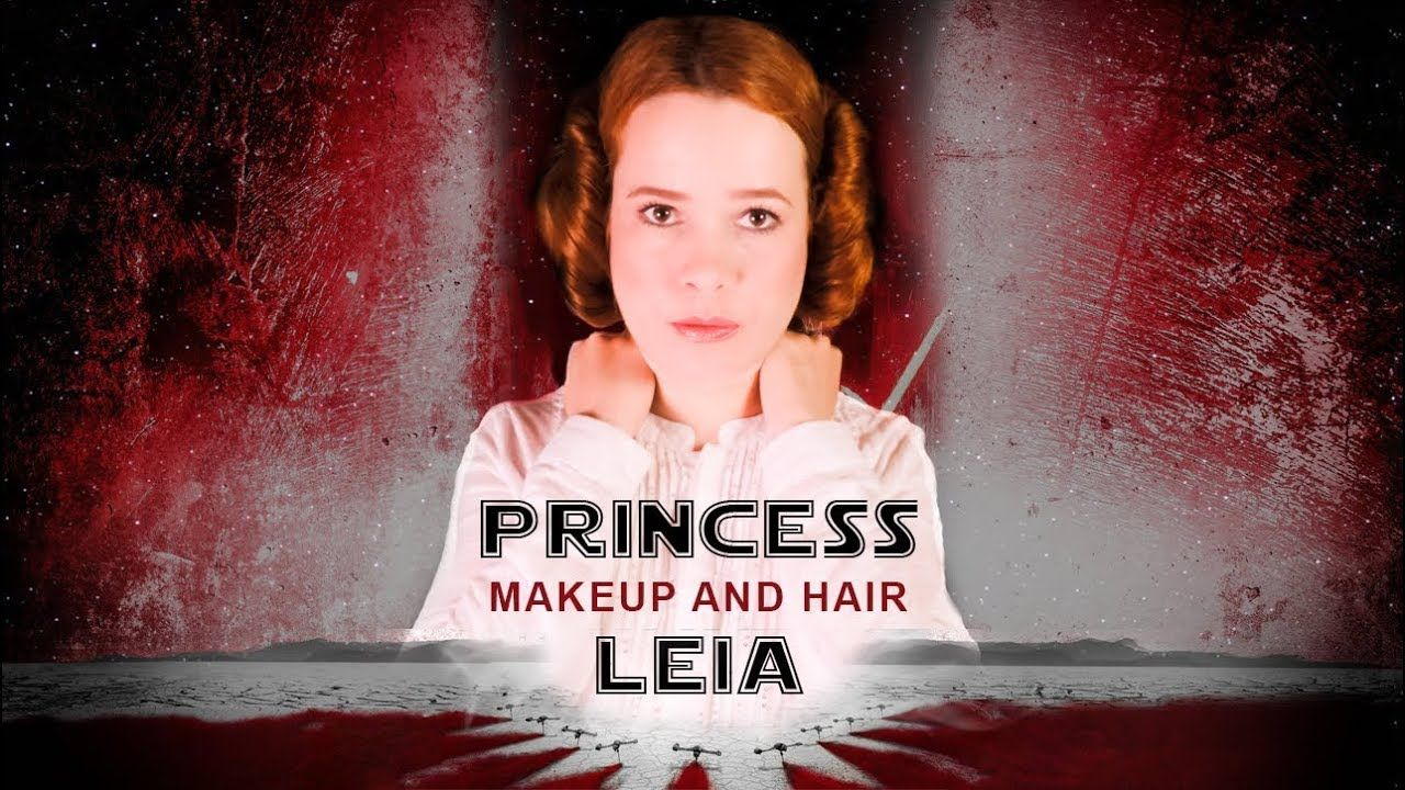 princesa leia star wars makeup and hairstyle tutorial classic