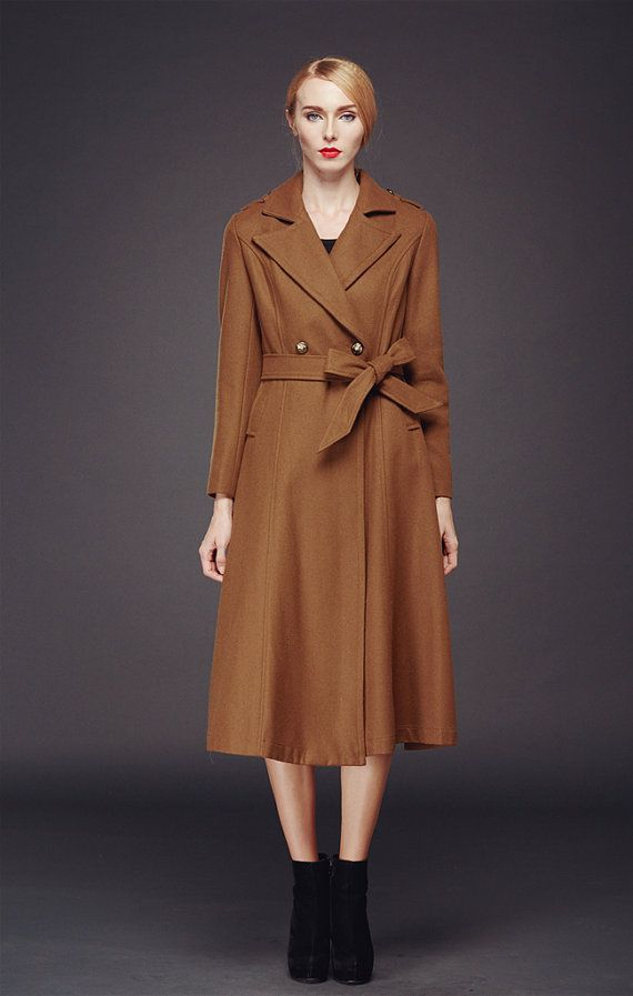 Long Wool Coat Long Winter Jacket Cashmere Coat Dress Women winter ...