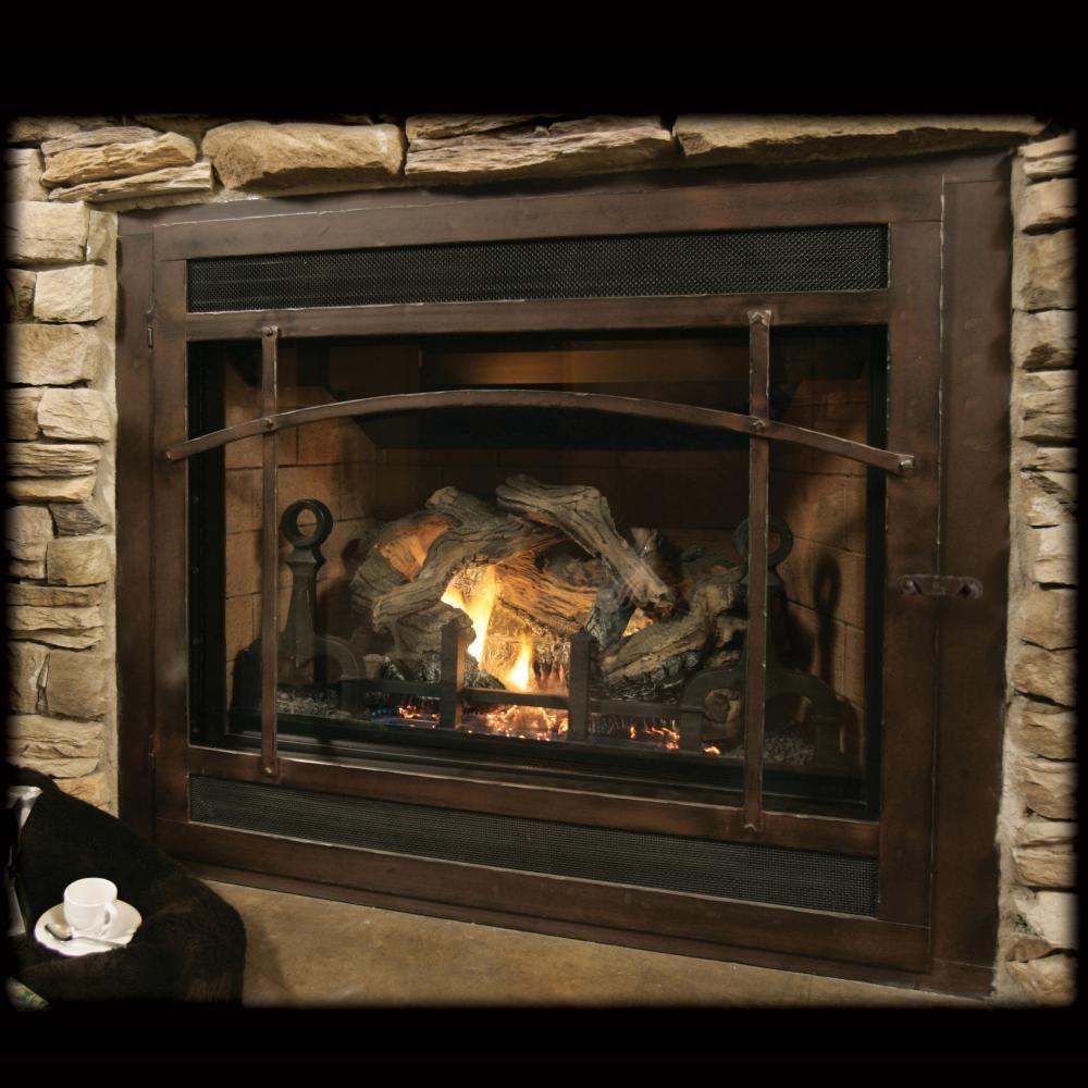 ironhaus heritage selway original craftsman gas fireplace image