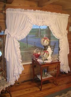 priscilla curtains living room flooring for options vickie s ruffled and drapes pinterest