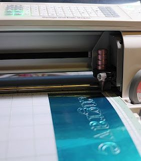Using The Chomas Creations Engraving Tip In The Cricut To Engrave On A Metal Sheet Chomas