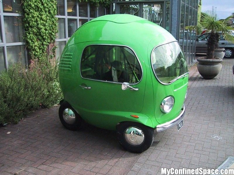 Little Round Cars Round Green Car Myconfinedspace With Images