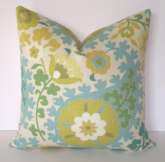 Teal Beaded Dahlia Pillow | Pier 1