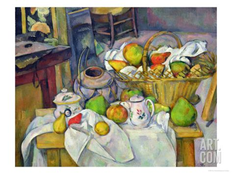 Still Life with Basket, 1888-90 Giclee Print by Paul Cézanne at Art.com