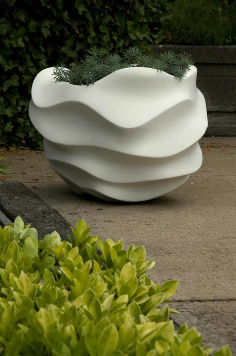 contemporary planters outdoor