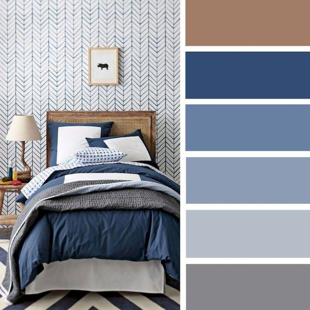 #livingroomcolors (2020) | Blue color palette bedroom ...
