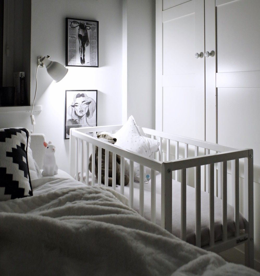 Kołyska łóżeczko Bedside Crib Białe Drewniane Mini