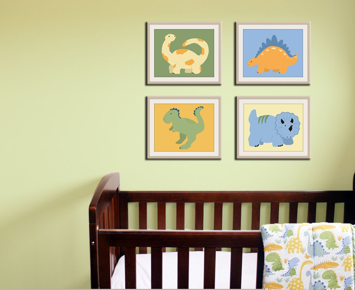 dino wall art | Nursery ideas | Pinterest | Dinosaur nursery ...
