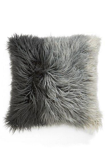 nordstrom at home ombre faux fur flokati accent pillow grey silk multi one size by