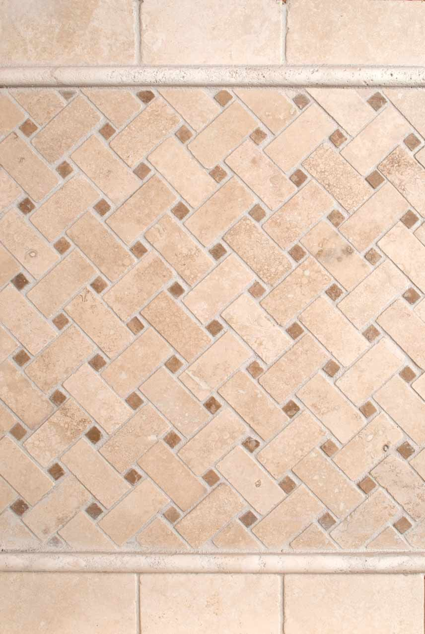 Bs041 durango cream 2x4 tumbled and basket weave pattern for the bs041 durango cream 2x4 tumbled and basket weave pattern for the floor tile pattern on doublecrazyfo Images