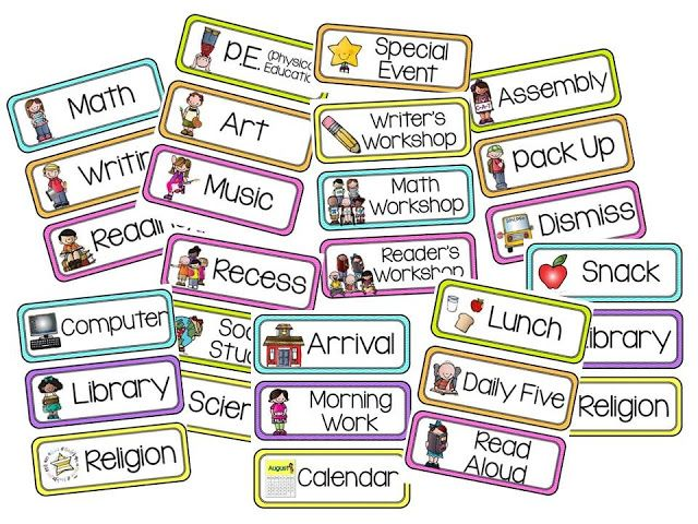 Editable Schedule Cards | Classroom schedule, Classroom ...