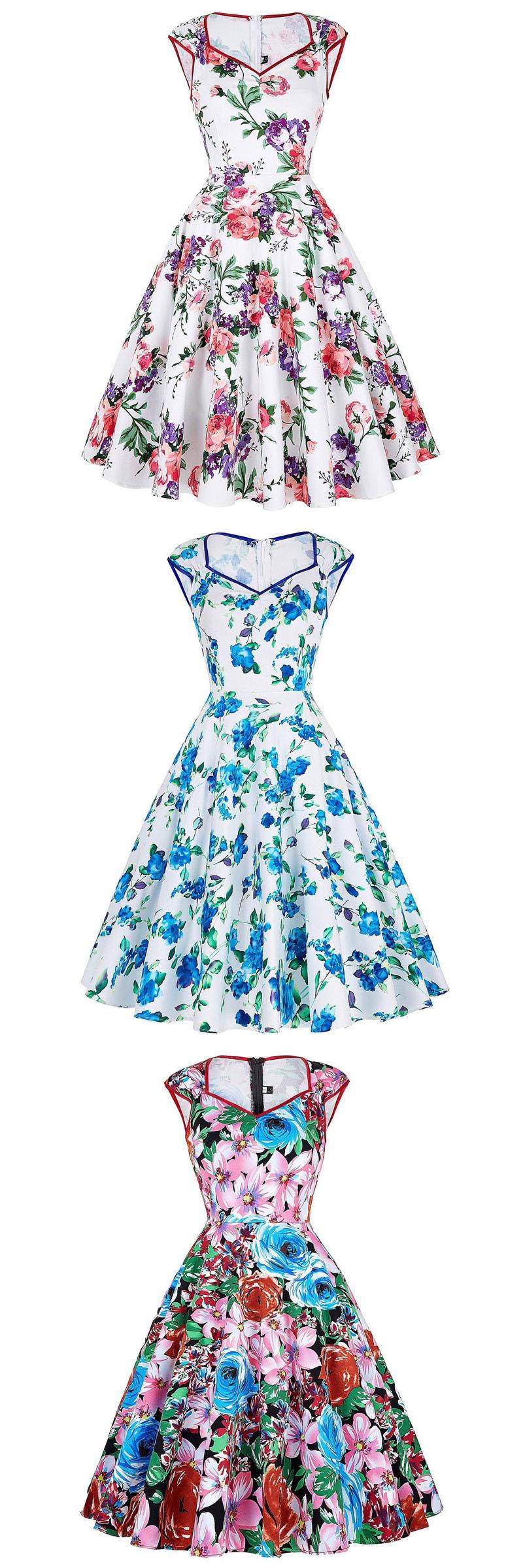 Floral Print Summer cotton Dresses Women Casual Party Vestidos de ...
