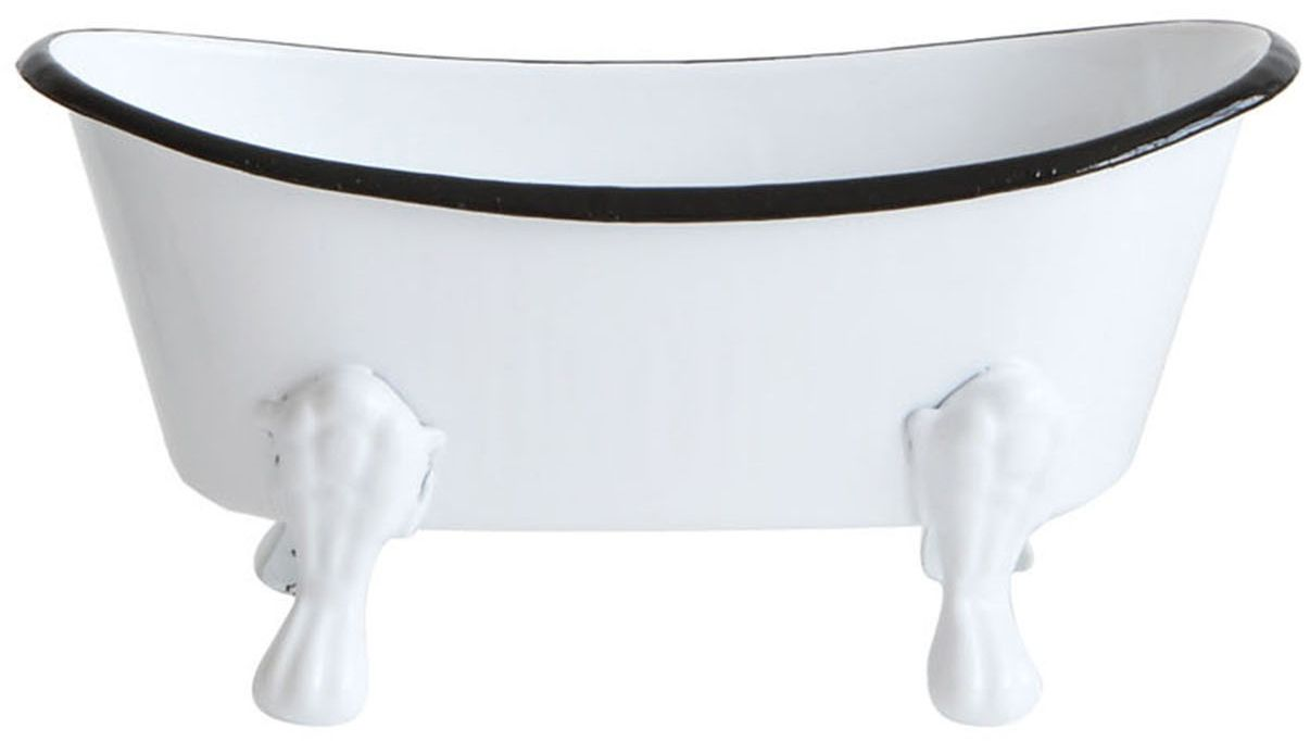Creative Co Op Enamel Bathtub Soap Dish From Elizabeth S