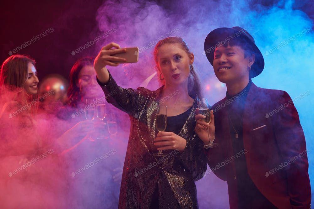 Couple Taking Selfie in Nightclub By seventyfourimages鈥檚 photos #Ad , #AD, #Couple, #Selfie, #Nightclub