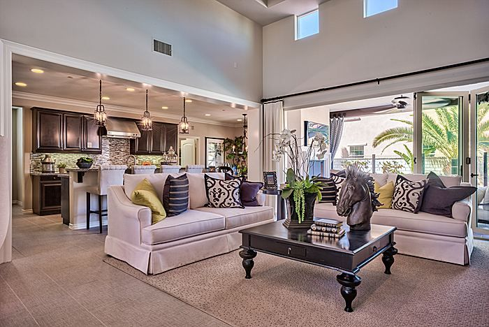 Estancia Model Home Living Space from Lennar Inland/LA ...