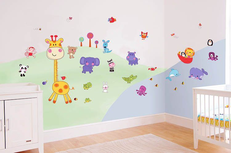 20 Adorable Cartoon Themed Nursery Ideas Nursery Wall Decor Girl Boys Room Colors Baby Room Wall Decor