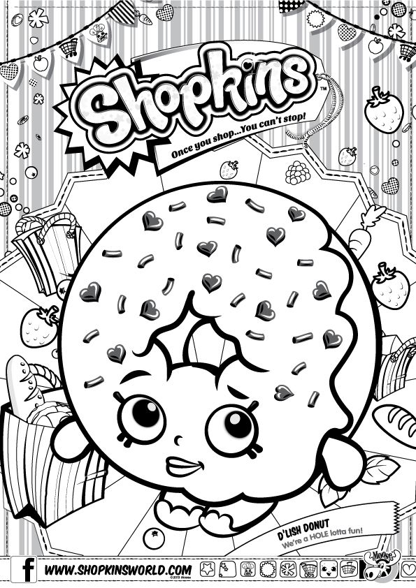 Shopkins Coloring Sheet Shopkin Page Free Printable