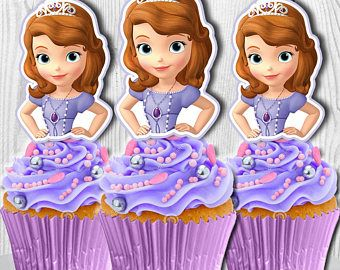 sofia the cupcake toppers sofia the cake pop toppers