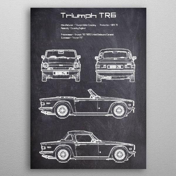 Triumph TR6 by FARKI15 DESIGN | metal posters - Displate | Displate thumbnail