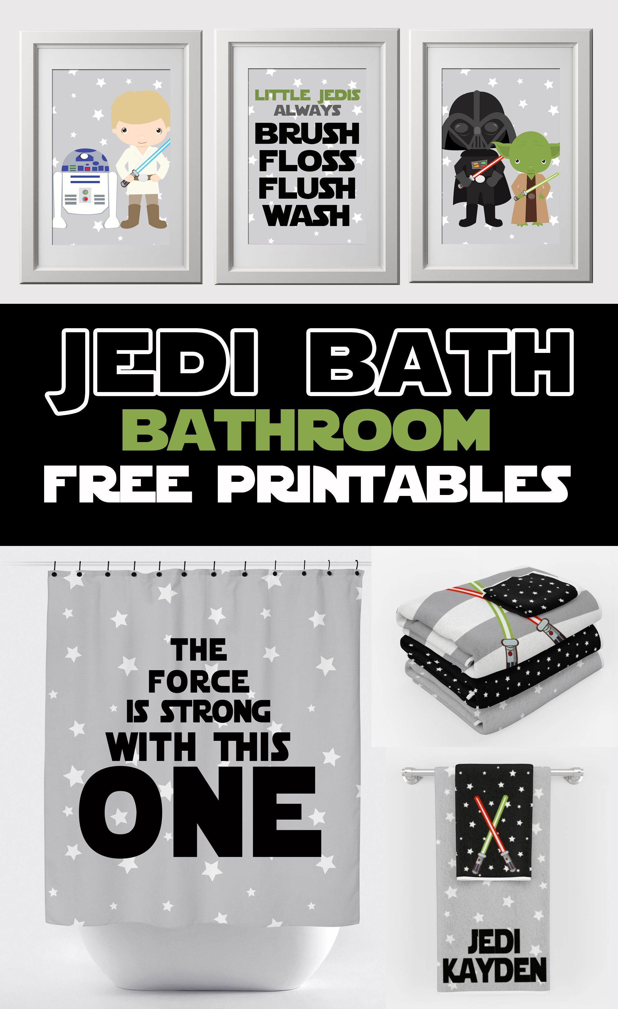 The Force Is Strong With This Bathroom Cute Star Wars Free Bathroom Wall Prints And Matchin Star Wars Bathroom Decor Star Wars Bathroom Kids Bathroom Wall Art