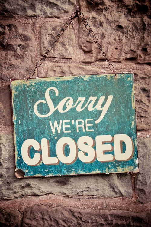 Sorry we are closed.