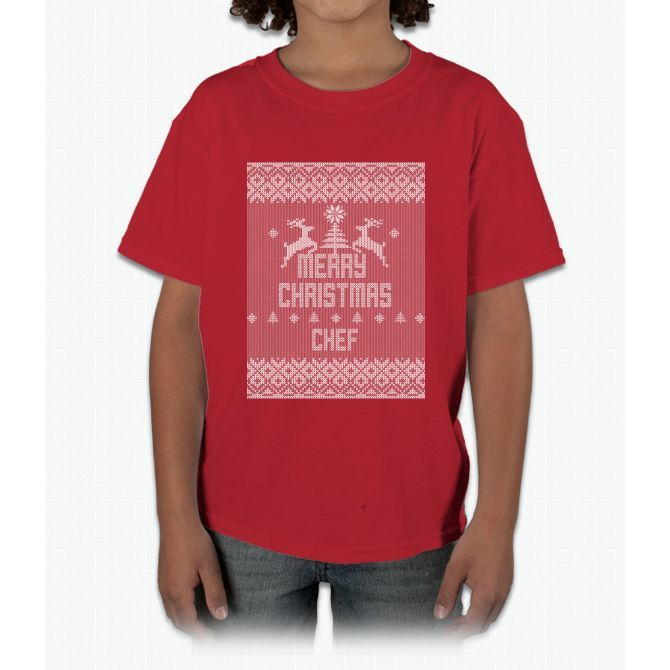 Merry Christmas Chef Young T-Shirt