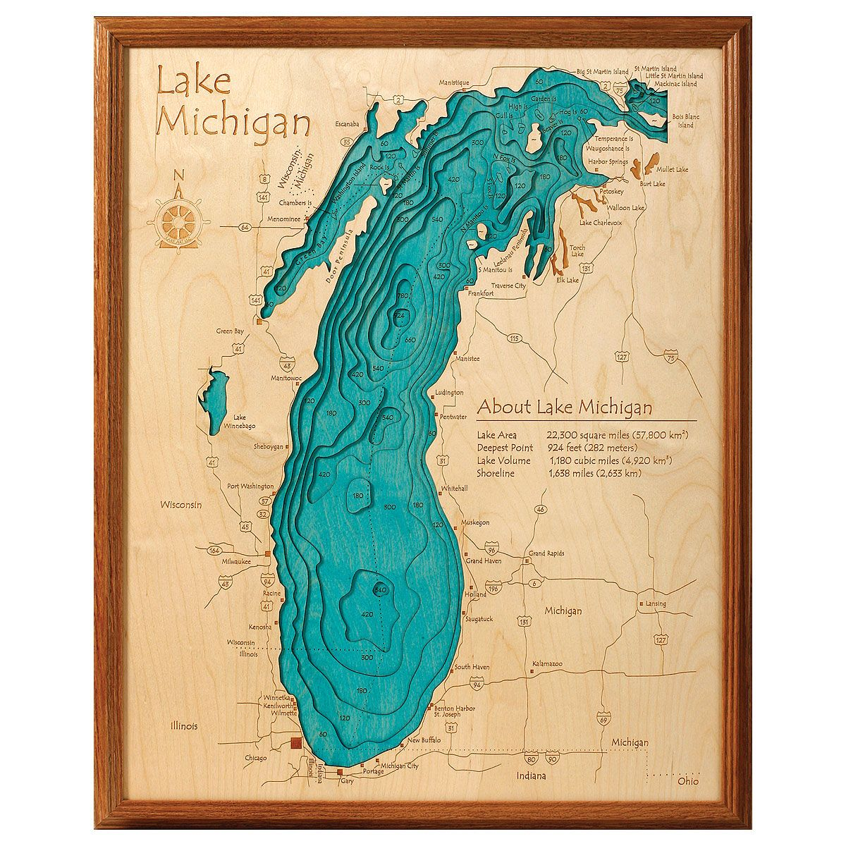 Lake Topography Art | Lakes, Craft and 3d