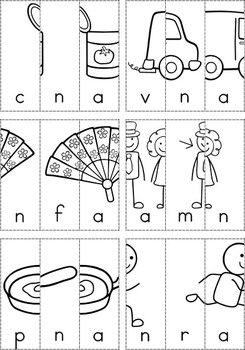 free word families picture scramble cut and paste booklets something new for word work. Black Bedroom Furniture Sets. Home Design Ideas