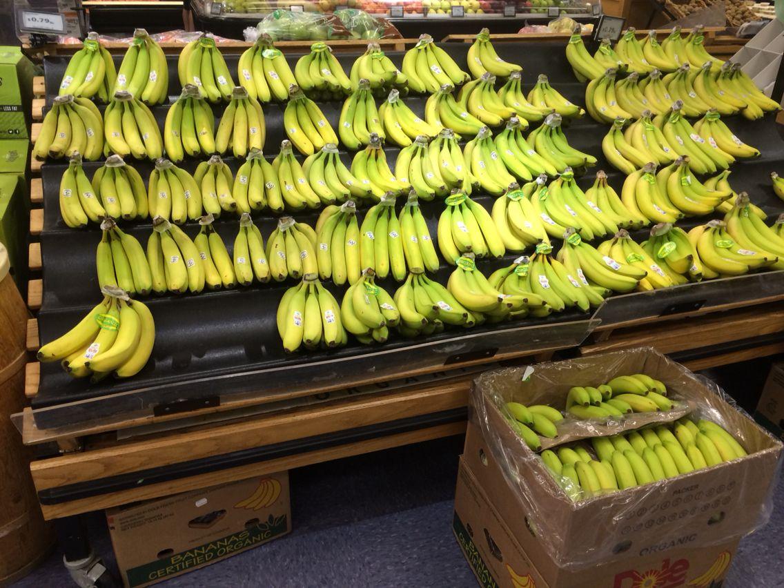 Organic bananas at the Raisin Rack!