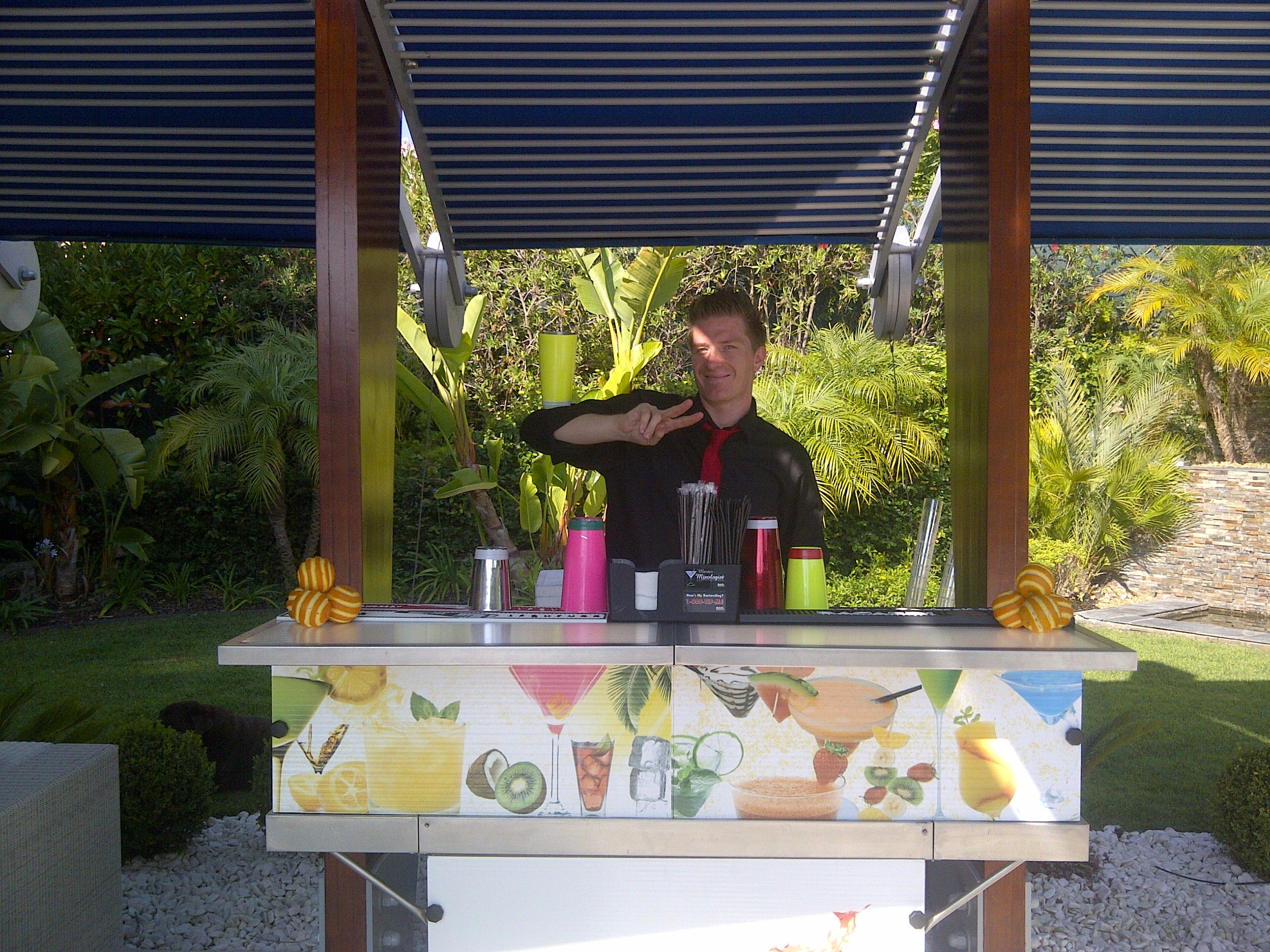 algarve weddings we can set up our portable bar anywhere you want inside or