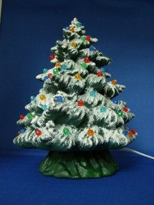 Hand Made Ceramic Lighted Christmas Tree by ABChristmas on Etsy