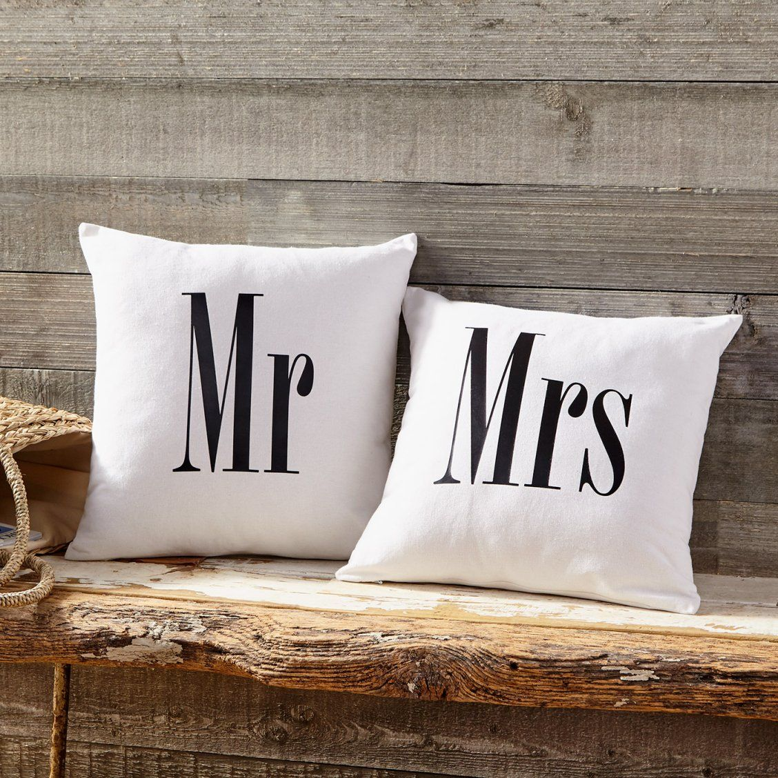 Make Wedding Gift: Make This Personalized Mr. And Mrs. Pillows Project As The