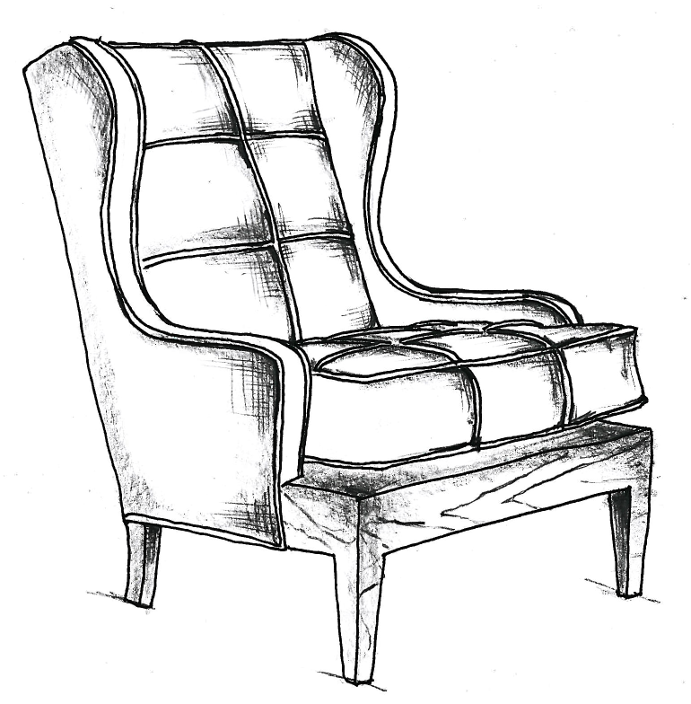 Chair Sketch chair no. one eighty, initial sketch | animation-movie credits