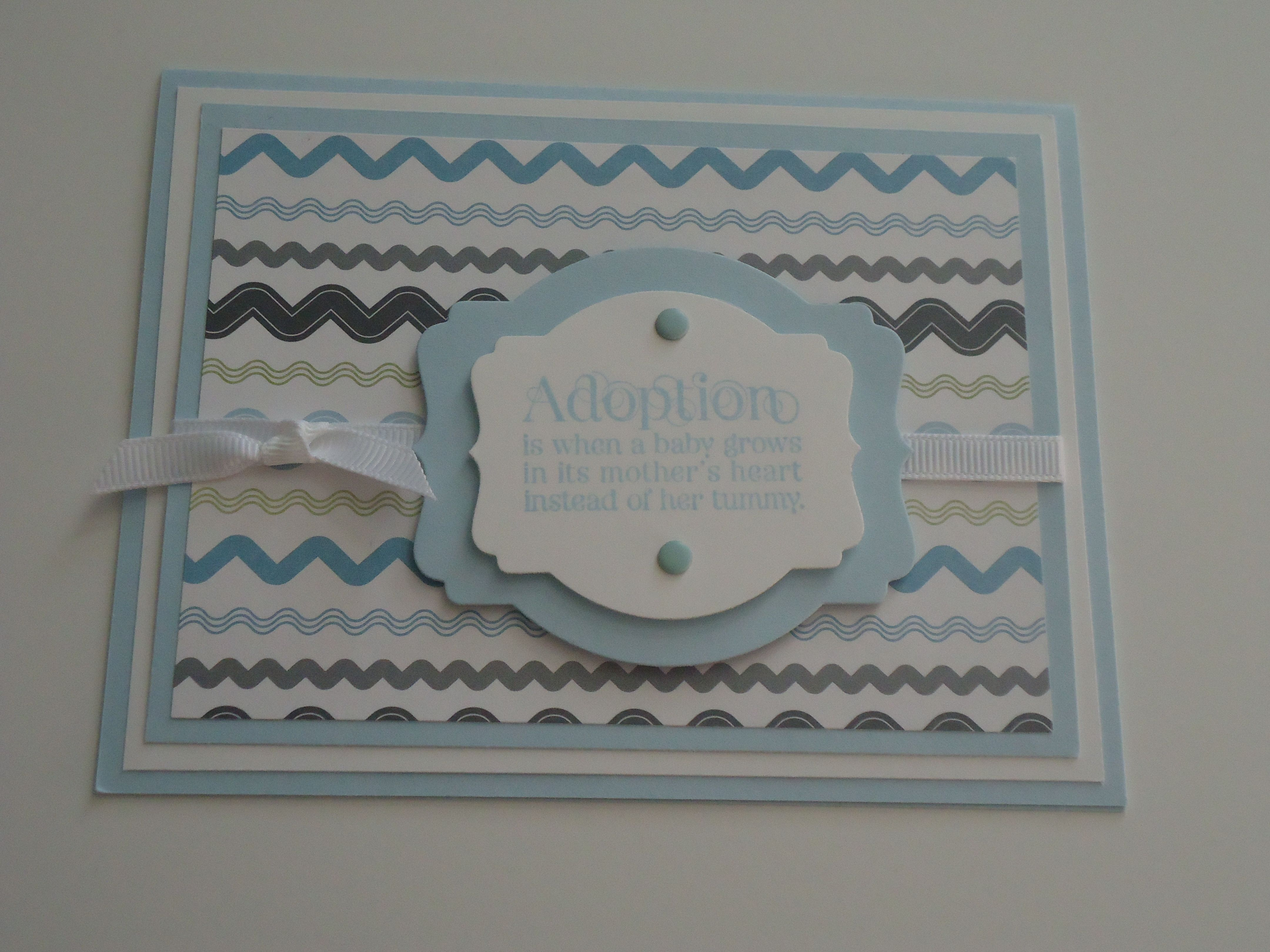 Great Adoption Card For A Baby Boy Cards Tags Pinterest