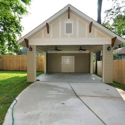 Traditional garages with carport this open car port for Open carport plans