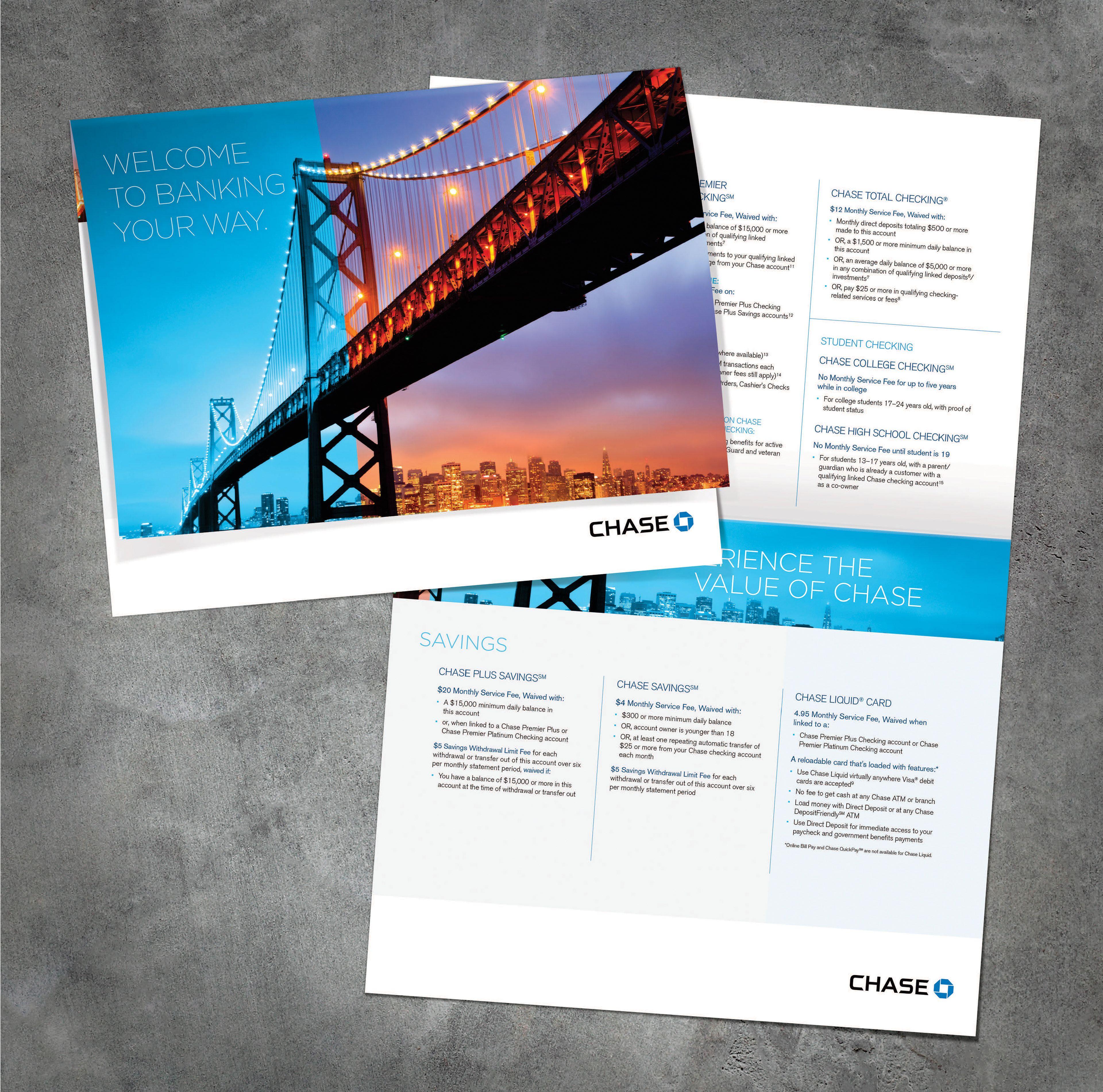Image Result For Chase Bank Brochure Finance Chase Bank Brochure