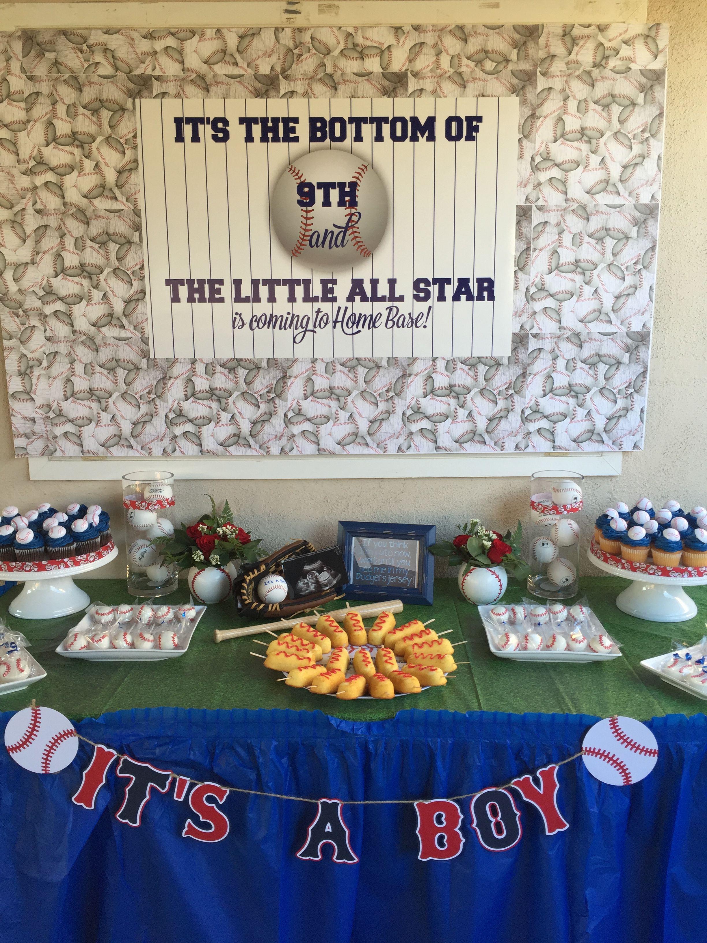 Baseball Baby Shower Dessert Table Baseball Baby Shower In 2019