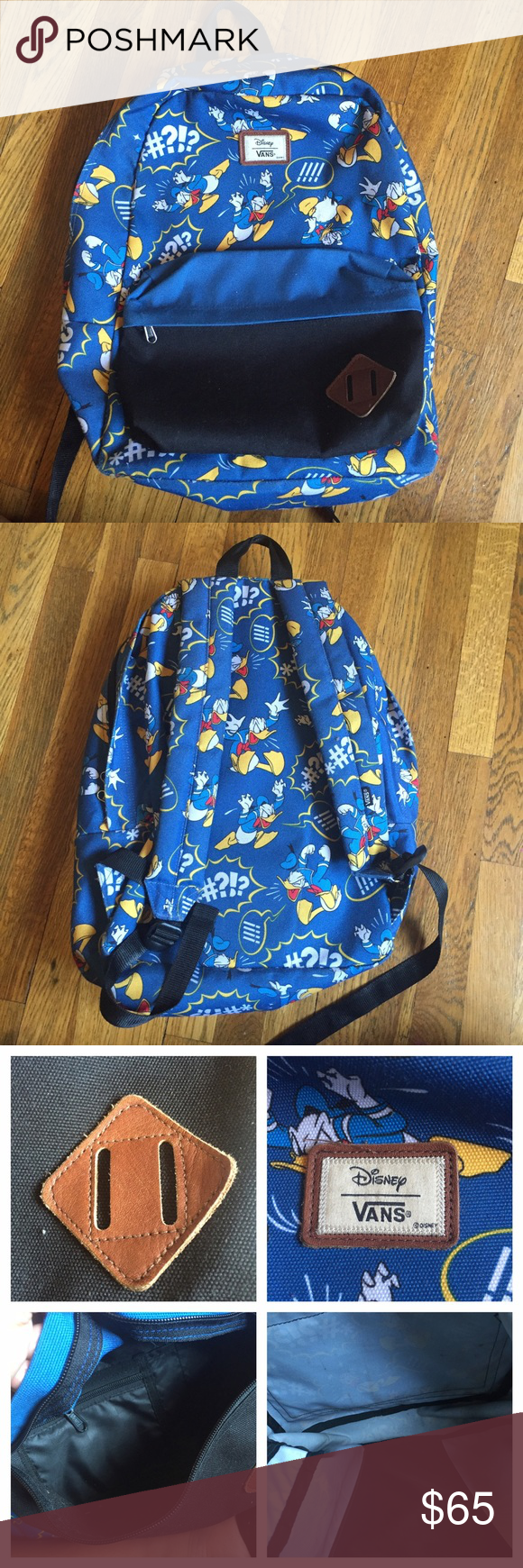 91cf1061a0b RARE Vans Old Skool Disney Donald Duck Backpack RARE. Sold out EVERYWHERE  except eBay (