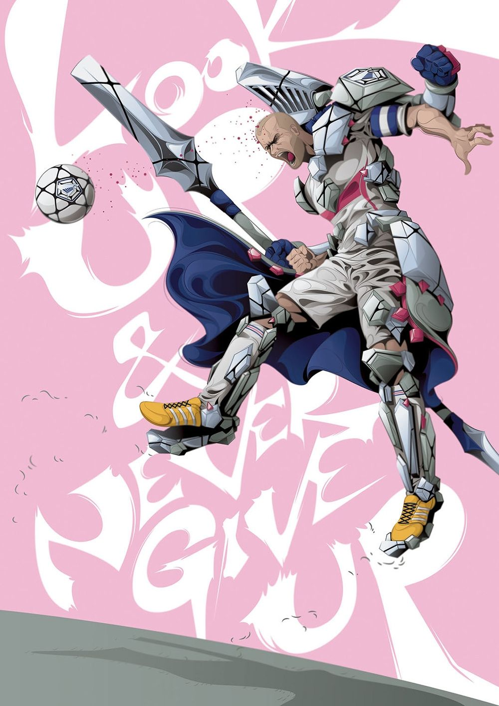 Check out ManTsun's Manga spin on his football heroes