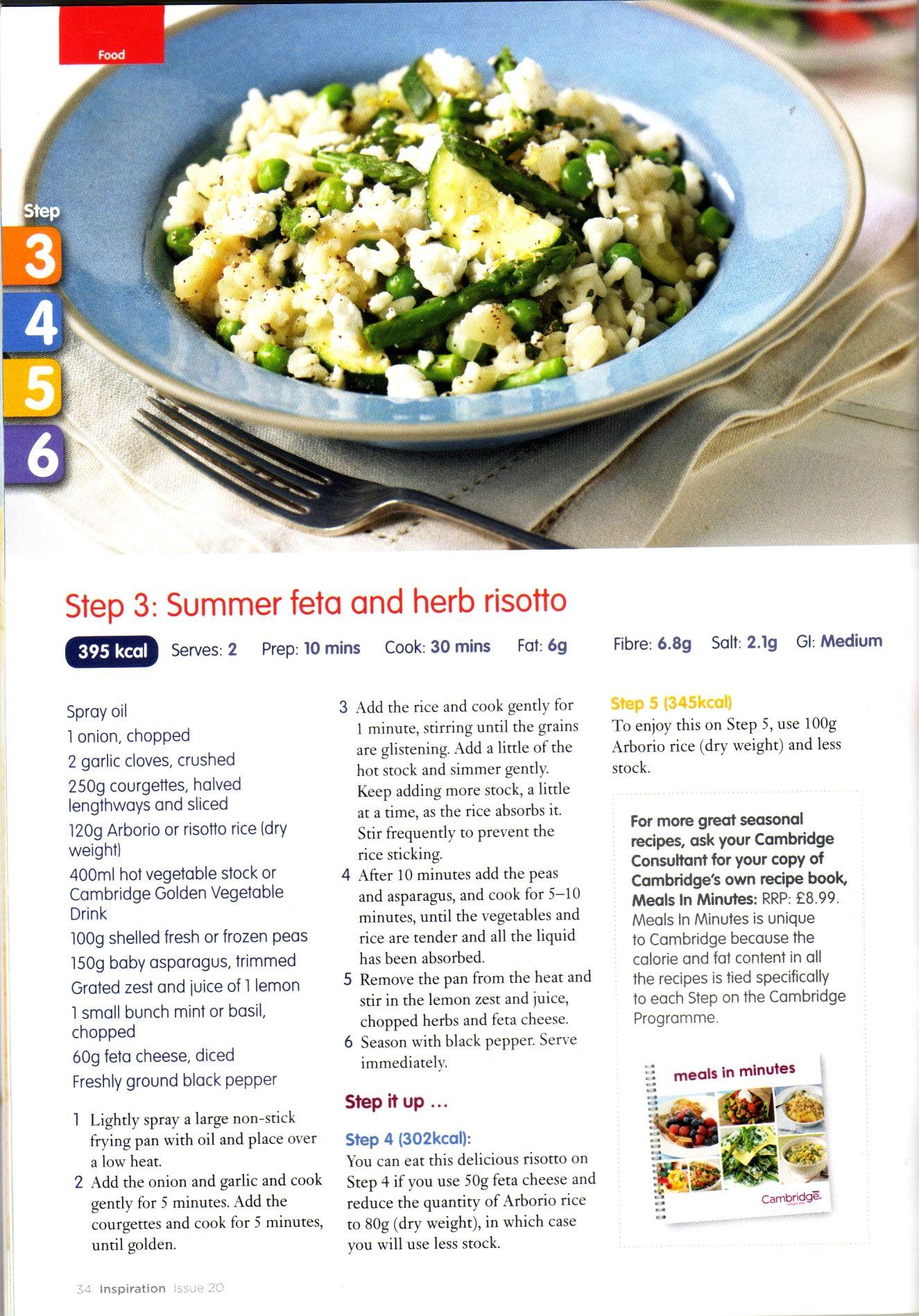 Cambridge diet 810 plan