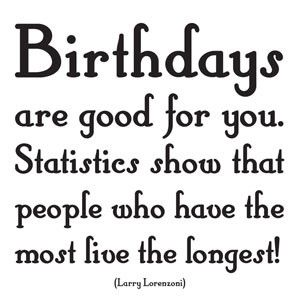Quotable Card - Birthdays Are Good For You.. | Outlines // BIRTHDAY