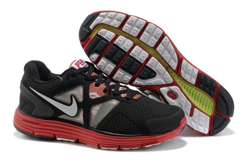 #Mens Fake Nike Lunarglide 3 City Pack (Peking) Black Red shoes #shoe